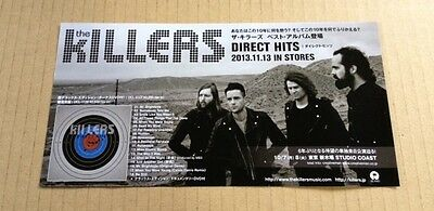 2013 The Killers Direct Hits JAPAN album promo ad / clipping cutting / photo