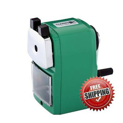 Original Classroom Friendly Pencil Sharpener, Green, Quiet Classroom, Manual
