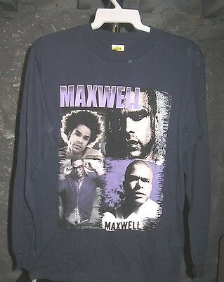 Maxwell Classic Blue Maxwell World Tour Small Long Sleeve Shirt