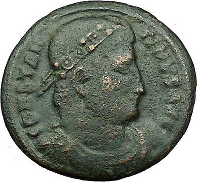 Constantine I the Great 326AD Ancient  Roman Coin Military camp Bivouac i35032
