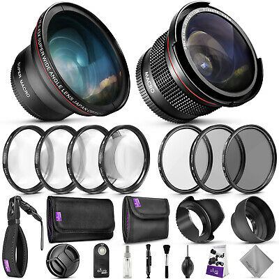 58mm Accessory Kit for Canon EOS Rebel DSLR Bundle with Fisheye Wide Angle Lens