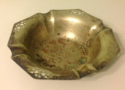 Benedict Silver/Plated Ash/cigar tray/Fruit Bowl/ reticulated design  #206