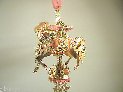 Kirks Folly Retired Fairy Go Round Carousel Wind chime, Gold Rare