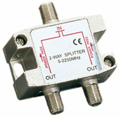 New 2 Way Splitter 5-2450MHz Satellite Cable TV BB F