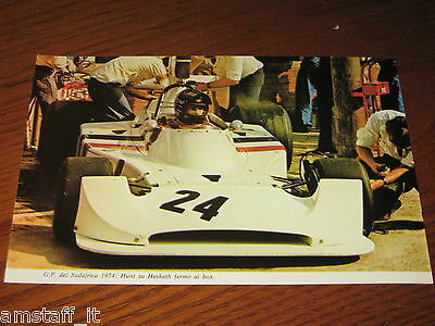 (37)*=G.p. F.1 Kyalami 1974 James Hunt Hesketh=Ritaglio=Clipping==Foto=