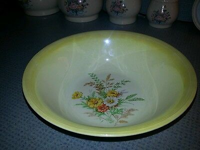 Edwin M. Knowles Round Veggie Bowl With Daisies Semi Vitreous 41-8