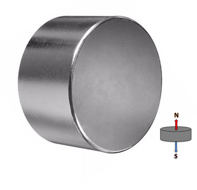1x Super Powerful Rare Earth Disc Magnet 50mm x 25mm N45 | Neodymium Heavy Duty