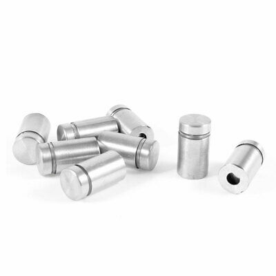 8 Pcs 12mm Dia 20mm Length Stainless Steel Advertising Nail Glass Standoff Pin