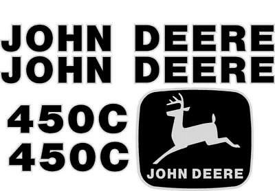 New John Deere 450C Crawler / Dozer Decal Set JD Decals