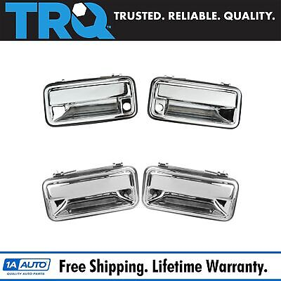 Chrome Outer Outside Exterior Door Handle 4 Piece Kit Set for Chevy Tahoe Pickup