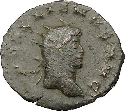 Gallienus son of Valerian I Ancient Roman Coin Fortuna Cult  Luck Wealth i31645
