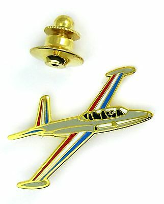 Pin's pin badge ♦ LUXE AVION ARMÉE FOUGA MAGISTER GRIS PATROUILLE DE FRANCE