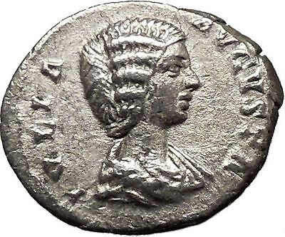 JULIA DOMNA 211AD Ancient Roman Coin  Pudicitia  Cult  Sexual virtue i36391