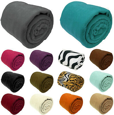 Luxury Warm Soft Large Polar Fleece Throw Blanket Sofa Bed Travel Throwover