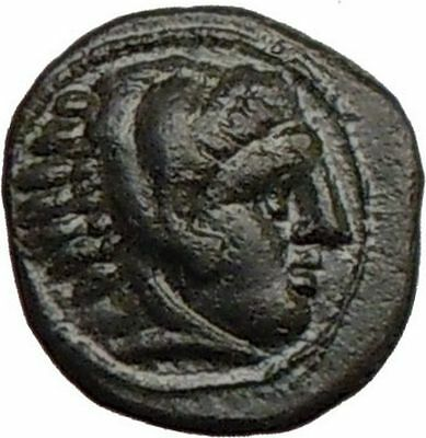 Alexander the Great under half brother PHILIP III Small RARE Greek Coin i21941