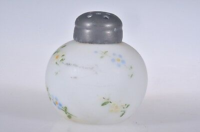 1890's APPLE BASED New England ENAMLED DECORATED OPALINE Victorian Salt Shaker 2