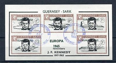 Guernsey-Sark Jfk Sheet Used