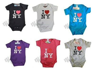 I Love NY Baby Bodysuits - T-Shirts - Bibs - All Colors Sizes 6m 12m 18M 24m