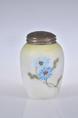 1890's New England Hand Painted DECORATED OPALINE Victorian Salt Shaker