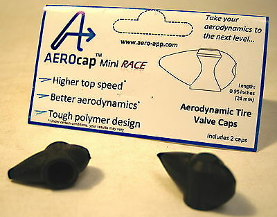 Racing Aerodynamic Tire Valve Stem Caps Pair – Designed and Made in USA