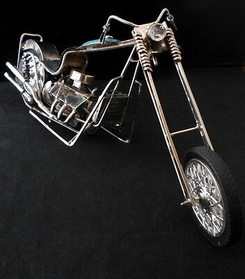 Navajo Silver and Turquoise Motorcycle Harley BIKER CHOPPER JAMES BEGAY *G081