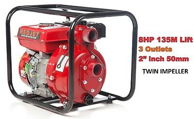 "8 Hp 2"" & 1.5"" Petrol High Pressure Water Transfer Pump Fire Fighting Irrigation"
