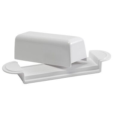 Hutzler Melamine Butter Dish With Cover~White