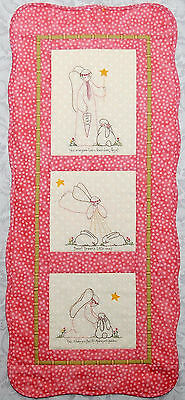 CLEARANCE PATTERN - Touched by an Angel -  stitchery & pieced wall quilt PATTERN