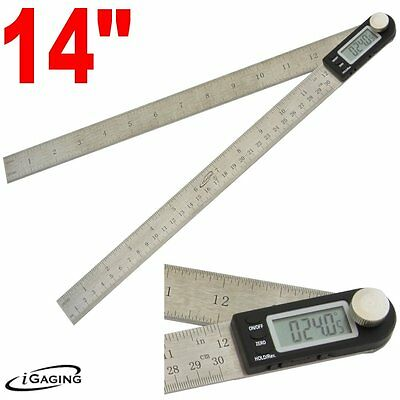 "iGaging 14"" Protractor Digial Electronic Goniometer Miter Angle Finder Ruler"