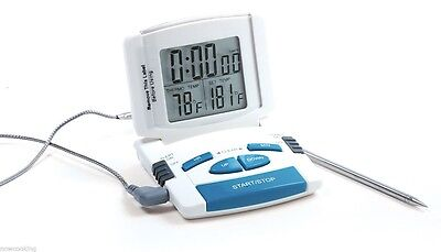 Norpro Electronic Digital Read Thermometer Timer Probe Oven BBQ Fryer Gift #5977