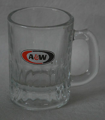 A & W miniature Glass Mug Collectible 3 1/2 inches tall