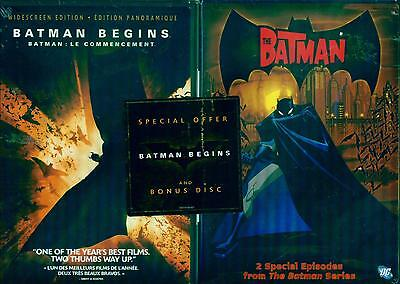 DARK KNIGHT TRILOGY: Batman Begins-Rises - Christian Bale Heath Ledger NEW 4 DVD