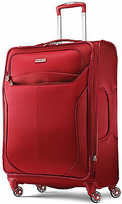 """Samsonite LIFTwo 25"""" Spinner 4 Wheeled Upright Luggage - Red"""
