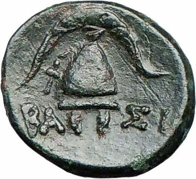 DEMETRIUS I Poliorcetes 294BC Ancient Greek Coin HELMET SHIELD  i27042