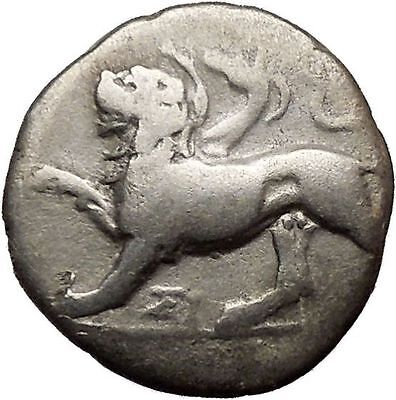 Sikyon in Sikyonia Chimera Lion Goat Snake Monster Dove Silver Greek Coin i36625