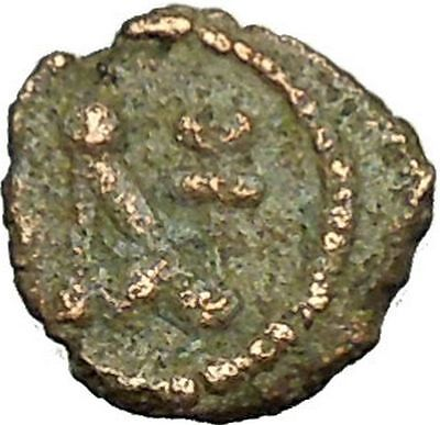 Anastasius I 491AD Ancient Medieval Byzantine Coin Monogram in Circle i34638