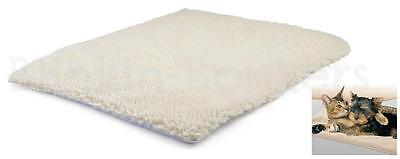 Self Heated Heating Dog Cat Puppy Pet Warm Thermal Bed Blanket Sheepskin Fx Rug