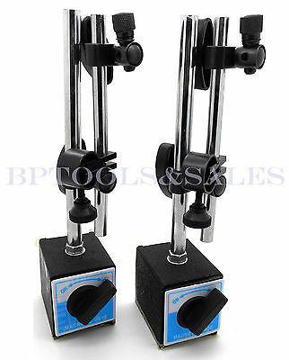 (Qty 2) 3D Deluxe MAGNETIC BASE Holder for Dial Test Indicator 132lbs Force