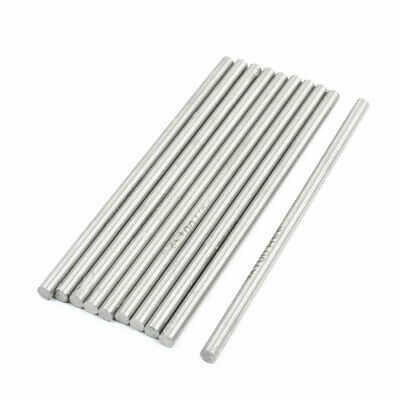 10Pcs 100mmx4mm High Speed Steel Turning Tool Round Bar Rod Silver Tone