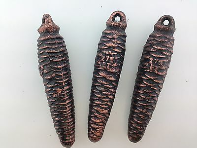 German Black Forest Cuckoo Clock Weights 275 grams each Set of 3