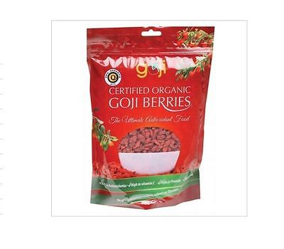 2  x 500g NATURALLY GOJI Goji Berries ORGANIC Rich Antioxidants ( total 1kg )