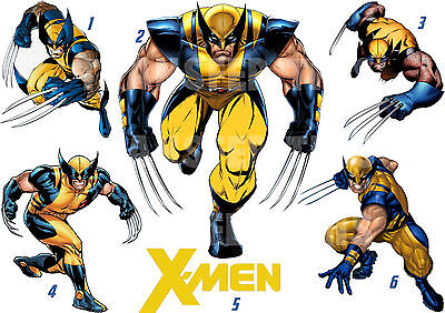 STICKER WALL DECO OR IRON ON FABRIC TRANSFER MARVEL XMEN WOLVERINE lot WV