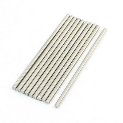 RC Airplane 80x3mm Silver Tone Stainless Steel Round Bar Rod 10Pcs