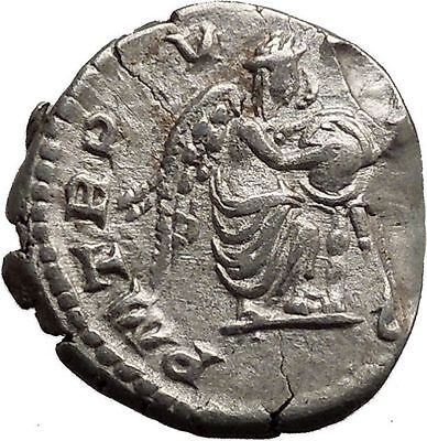 SEPTIMIUS SEVERUS 193AD Silver Ancient Roman Coin Victory Cult  Angel  i36650
