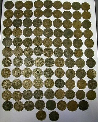 (1) LARGE CENT WITH DATE FROM HUGE LOT - ONE BID = ONE COIN- UP TO 20 DIFFERENT