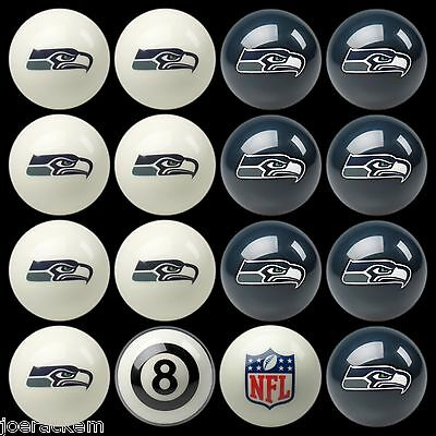 NFL Pool ball set - Seattle Seahawks Home and Away - FREE US SHIPPING