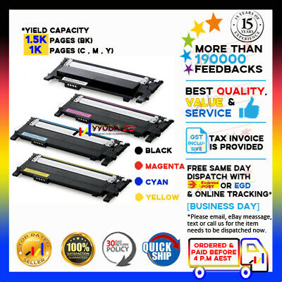 4 Toner Cartridges For Samsung CLT-406S for CLP-360 CLP-365W CLX-3300 CLX-3305FW