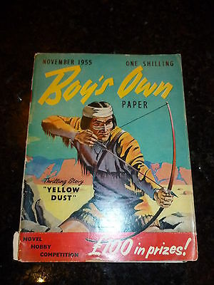 BOY'S OWN PAPER Comic - Vol 78 - No 2 - Date 11/1955 - UK Comic
