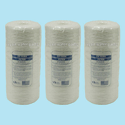 """3 X 10"""" Jumbo Wound Particle Filter 25 Micron Water, Vegetable Oil, Biodiesel"""
