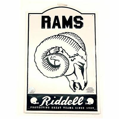 St Louis Rams Riddell Helmets Vintage Embossed Metal Sign